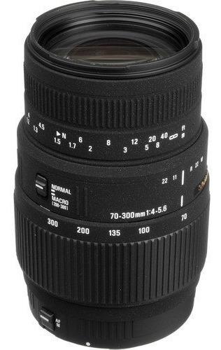 Lente Sigma 70-300mm F/4-5.6 Dg Macro Para Canon Eos