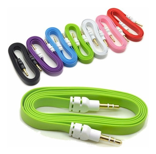 Cable Cinta Plano Audio Estéreo Auxiliar Plug Jack 3.5 Macho