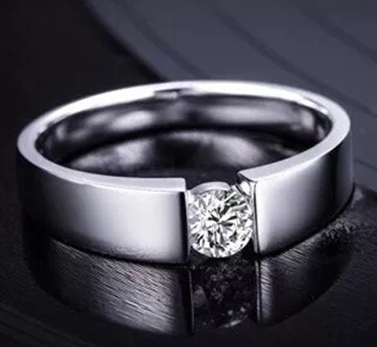 Anel Feminino Brilhante Noivado Casamento Banhado Prata 925