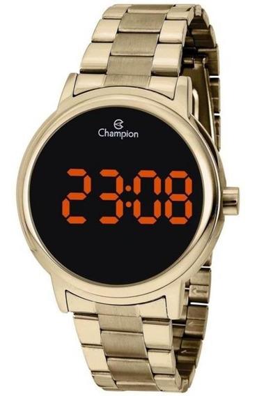 Relógio Digital Unissex Champion Ch40115j Dourado