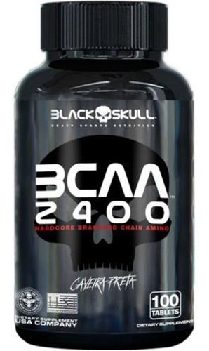 Bcaa 2400 - 100 Cápsulas - Black Skull / Caveira Preta