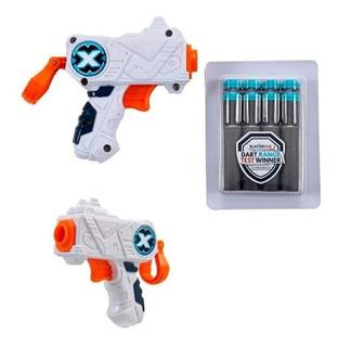 Pistola X2 Micro Zuru Xshot 3 Latas + 8 Dardos Modelo 01160