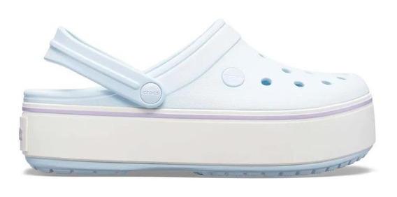Crocs Sandalias Mujer - Crocband Platform Clog Cel