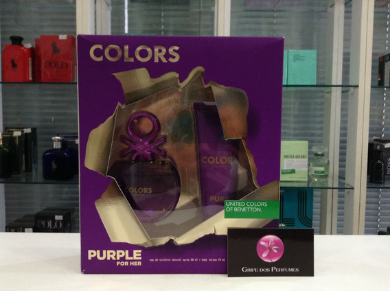 Kit Perfume Collors Purple Edt 80ml Benetton