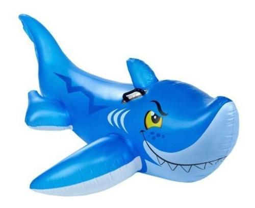 Flotador Inflable Para Montarse Tiburon 56567 Intex Piscina