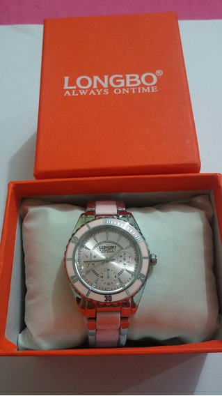 Relógio Feminino Original Longbo Rosa M:80303