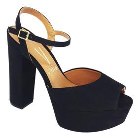 Sandalia Salto Grosso Meia Pata Confortável Vizzano 6282100