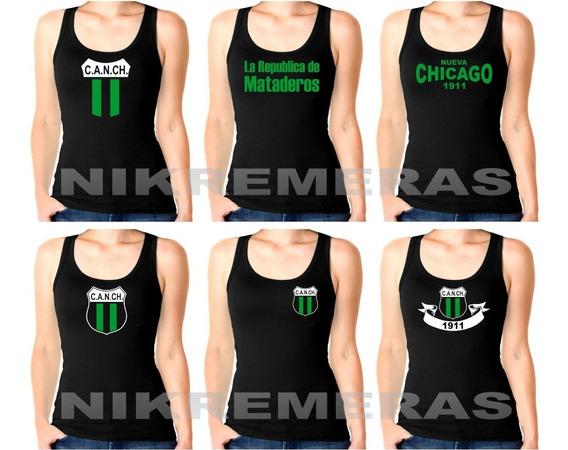 Musculosa Modal Mujer,nueva Chicago,camiseta,mataderos,canch