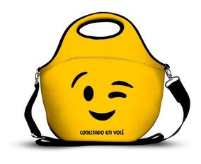 Bolsa Lancheira Em Neoprene Emojis