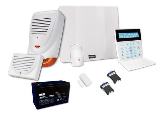 Alarma Para Casa+sensor+bat+sirena+control A Distancia + Kit