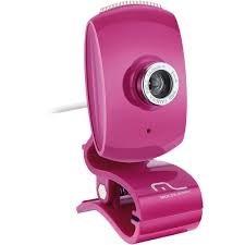 Webcam Facebook Wc048 Usb Pink - Multilaser