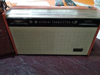 Antigua Radio Portátil Hitachi Transistor 8 Funcionando