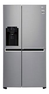 Heladera inverter no frost LG LS65SDP1 silver con freezer 601L 220V