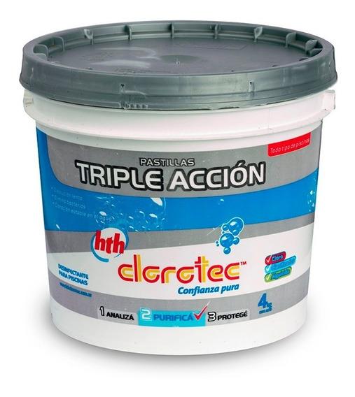 Pastillas De Cloro Triple Acción 4 Kg Clorotec