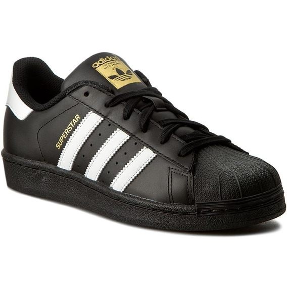 Tenis adidas Superstar Foundation Negro Blanco B27140