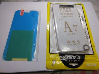 Capinha Galaxy A7 2017 A720 + Película De Gel Anti-esplosiva