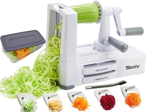 Cortador De Verduras Espiralizador De Verduras  Zucchini