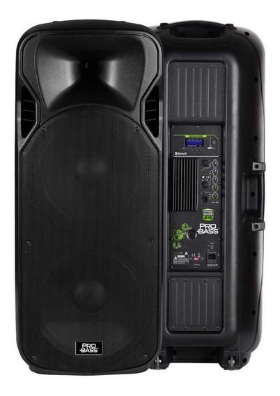 Caixa Amplificada 2 Falantes 15 Pol Pro Bass Power Bass 215