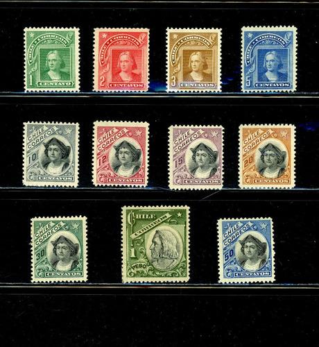 Sellos Colón. Nuevo Diseño. Serie Del Peso Bronce. 1904-1909