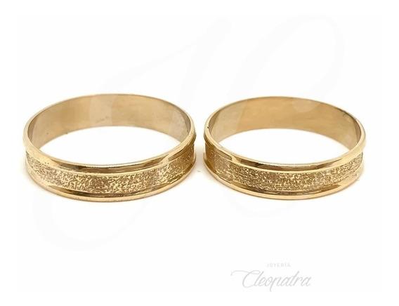 Alianzas Buriladas Oro 18k 4gr Compromiso Casamiento