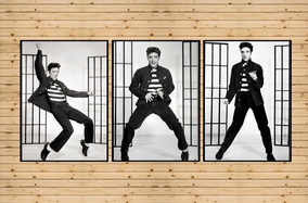 Conjunto Quadros Decorativos Cantor Elvis Presley Grande A3