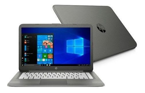 Notebook Hp 14-cb012wm Cel-n3060/4gb/32ssd/14p/w10 Cinza
