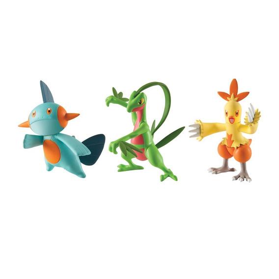 Pokemon - Figuras Pack 3 - Grovyle, Combusken E Marshtomp
