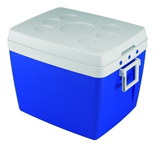 Caixa Térmica Cooler 75l Azul Para Praia E Camping - Mor