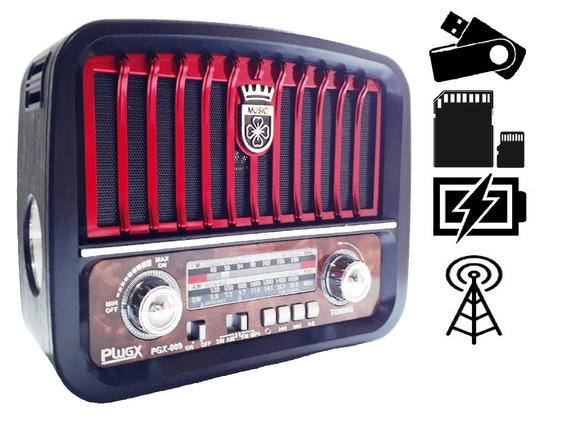 Radio Retro Classico Am Fm Usb Pilha Energia Tomada Oferta!!