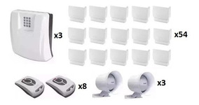 Kit 3 Central De Alarme Gsm1000 Sulton + 54 Sensores S/fio