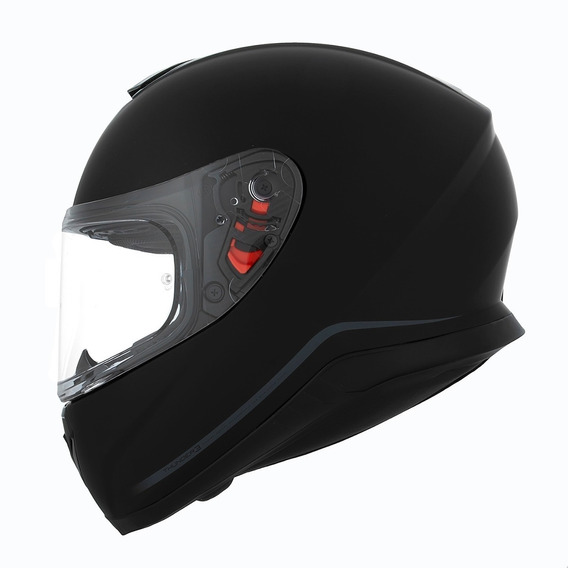 Casco Mt Moto Integral Thunder Solid Negro Mate Visor Simple