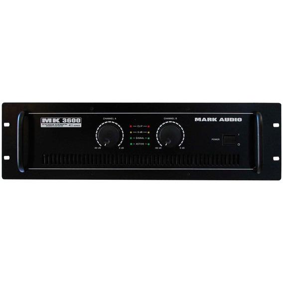Amplificador 600w 4 Ohms Mk 3600 - Mark Audio