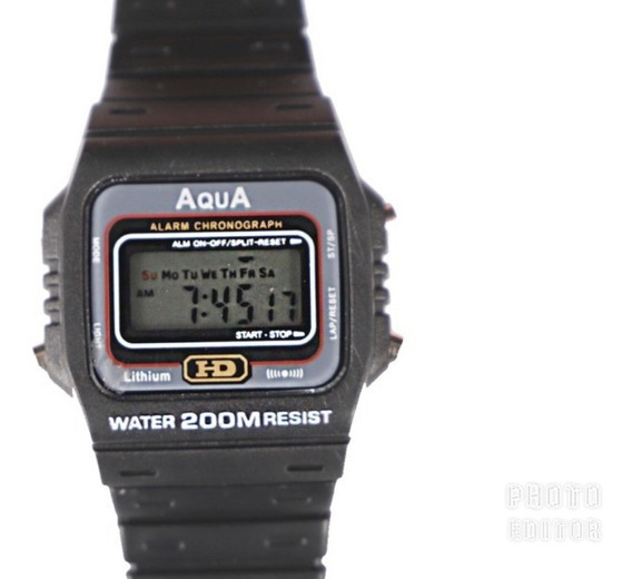 Relogio Masculino Aqua Aq 37 Modelo Novo Original Oferta