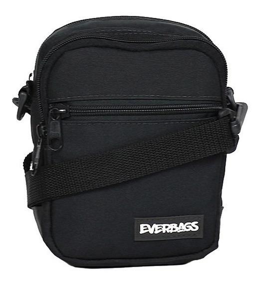 Shoulder Bag Preta Mini Everbags Bolsa Tira Colo Necessaire