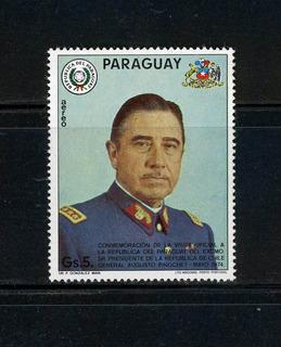 General Augusto Pinochet Ugarte. Sello Postal De Colección.