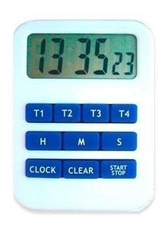 Timer Digital Luft Cuádruple Reloj Para Mesa Colgar