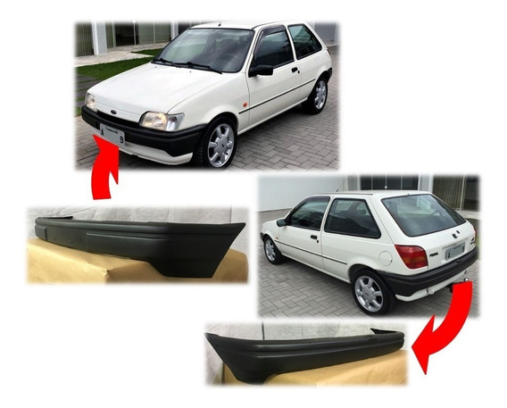 Parachoque Fiesta 89/95 Fibra De Vidro (kit Par)