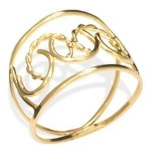 Anel Rommanel Fios Com Detalhes Em C 511021 Folheado A Ouro