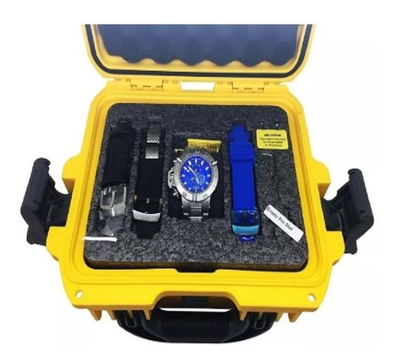 Relógio Masculino Invicta 6684 Com Maleta Blindada E 3 Pulseiras