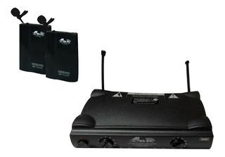 2 Microfono Corbatero Gbr Uhf-230 Inalambrico