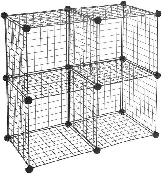 Estante Mueble Organizador Cajones Recamara Cubos Amz 4 Cubo