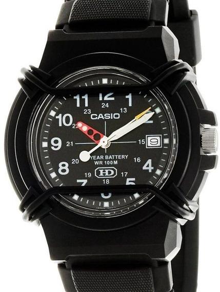 Relógio Casio Masculino Retro Preto Com Proteção Do Visor