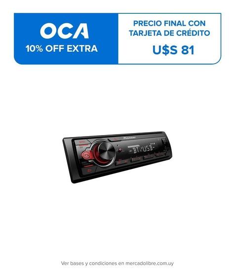Radio Para Auto Pioneer Bluetooth Usb 50w X 4 Mvh-s215bt