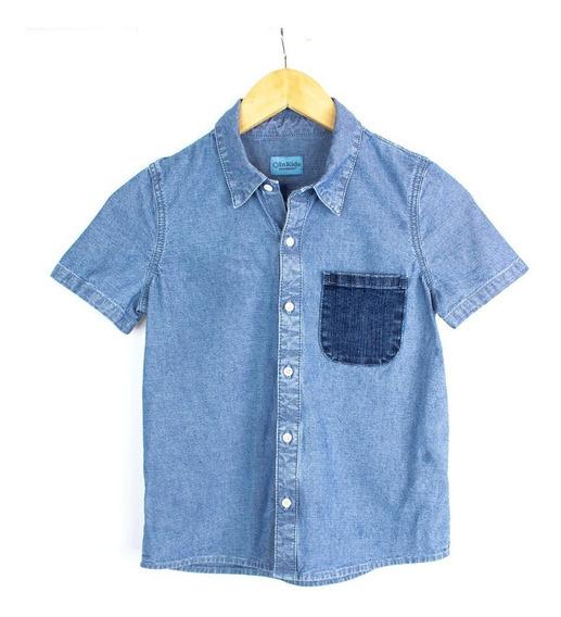 Camisa Innermotion De Mezclilla Para Niño Estilo 4129