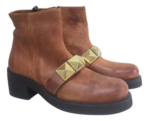 Zapato De Mujer Suela Botineta Cuero Maggiorossetto