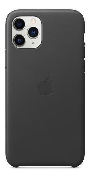 Capa iPhone 11 Pro Apple, Couro Preto
