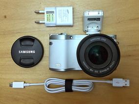 Câmera Digital Samsung Nx300 Branca + Lente 18-55mm