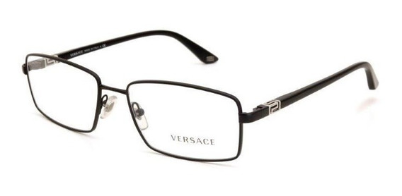 Óculos De Grau Acetato E Metal Feminino Versace Preto