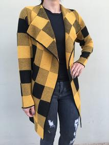 Kimono De Tricô Xadrez - Tamanho M