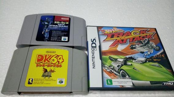 2 Jogos N/64 Japan Originais + 1 Jogo Nintendo D S Lacrado.